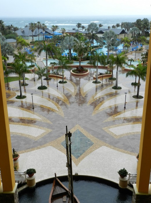 View from the Hotel's 5th Floor Atrium