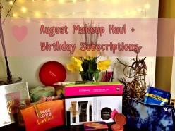 Huge August Makeup Haul!