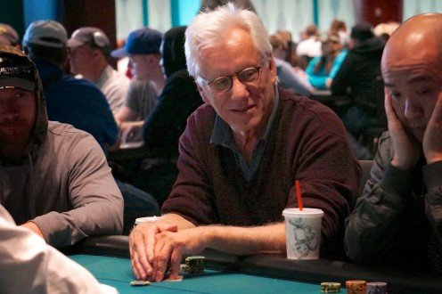 "Academy Award-nominated actor James Woods, looking for ""tell"" signs from fellow poker players."