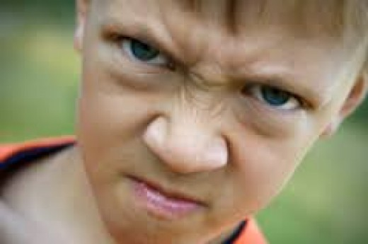 Anger in kids can be sometimes aggressive