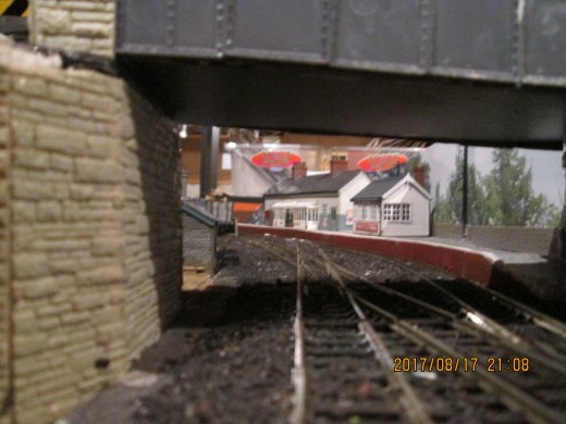 Looking more like a railway station - the view through the bridge across the junction