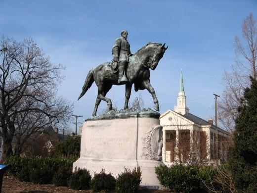 Robert E. Lee statue, Lee Park, Charlottesville, Virginia, VA