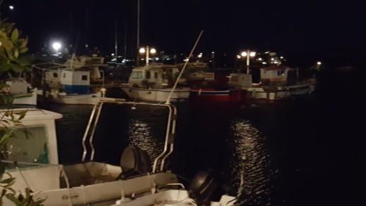 Dinner at Piso Livadi Harbour