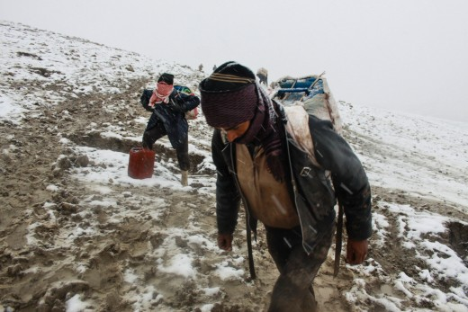 Crossing the Iraqi Turkish border in winter (The Smuggler route)