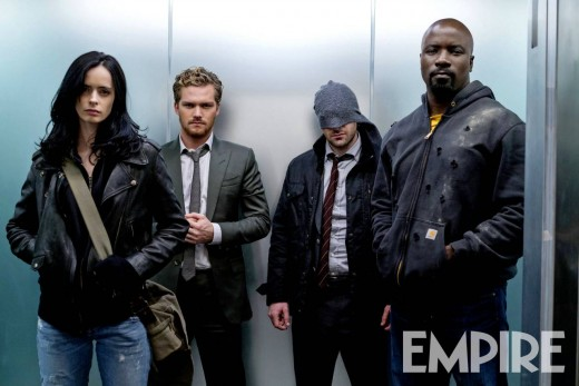 The Defenders (Jessica Jones, Iron Fist, Daredevil, and Luke Cage).