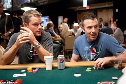 "Ben Affleck and Matt Damon are best friends and both love to play poker, although most reports say that Affleck is the better player of the two.  Fellow actor James Woods, also a poker player, has said that Affleck is ""genuinely a likeable guy."""