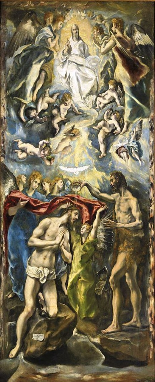 Baptism of Christ, 1596-1600 by El Greco