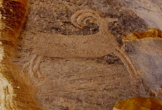 Petroglyph in Capitol Reef National Park