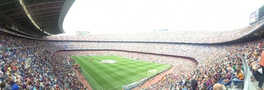 Barca's famous home ground.