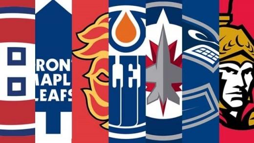 Habs, Leafs, Flames, Oilers, Jets, Canucks, Senators.