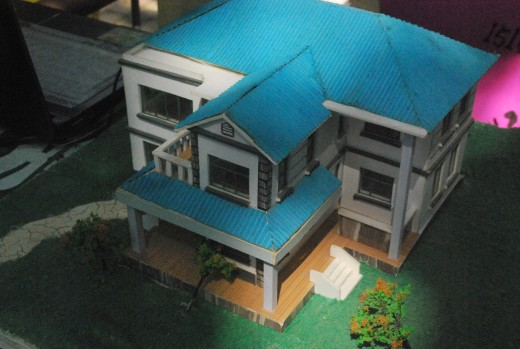 Scale Model Of A House. This Scale Model Was Completed By An Architectural  Student.