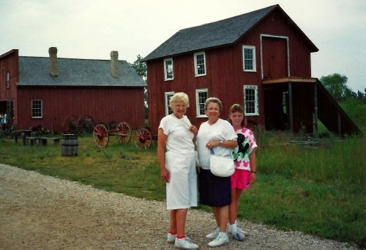 Aunt Arry, my mother and niece at Old World Wisconsin