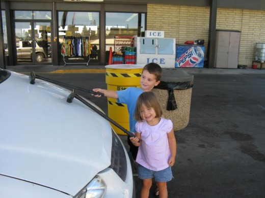Much less expensive than the car wash!