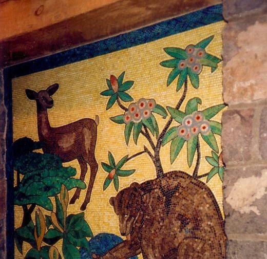 Mosaic tile work inside of Timberline Lodge