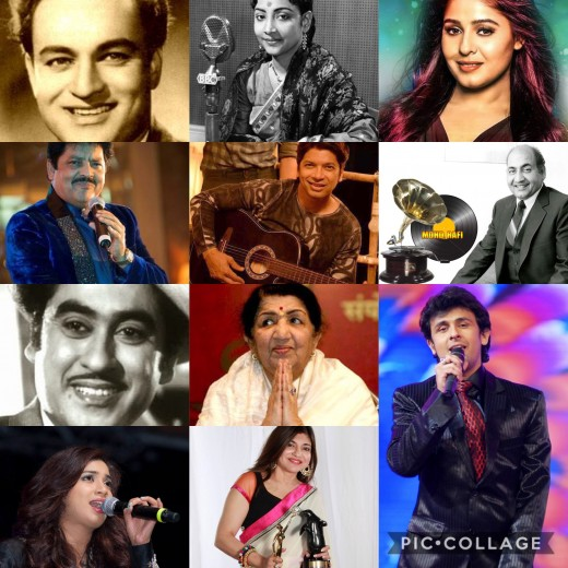 The melodious Bollywood singers-My list of top favourites