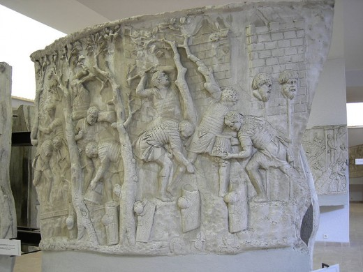 The Romans depicted their enemies being brutally slaughtered and putting their heads on pikes. But yet there's not one single example of crucifixion anywhere.