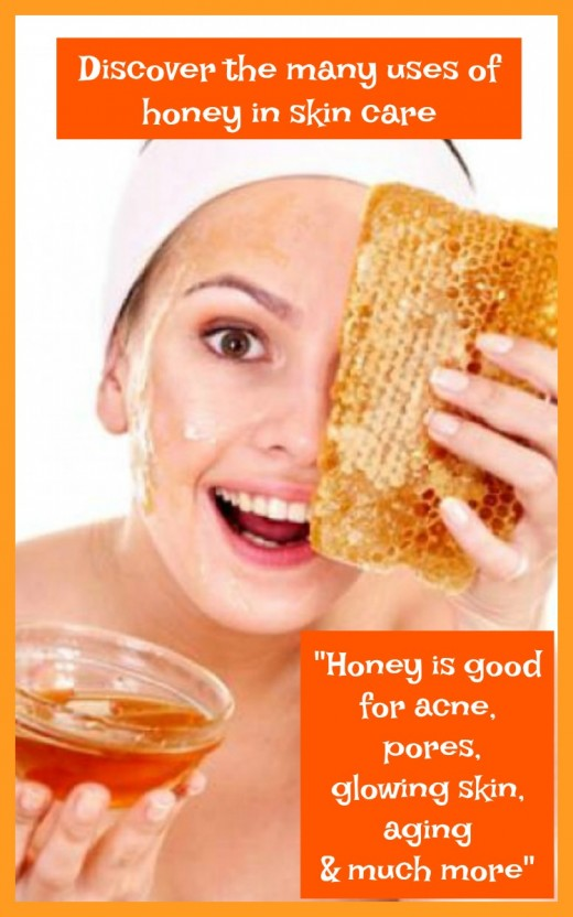 Face masks made with honey are good for the skin
