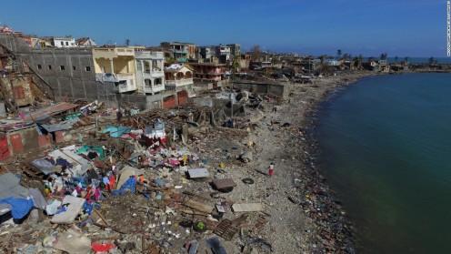 Devastation after Hurricane Matthew in 2016