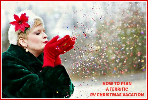 Directions for planning that perfect RV Christmas getaway.