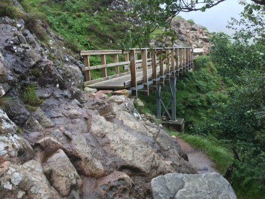 The friends of Ben Nevis are a volunteer group who maintain the track and upkeep of this and other footbridges. There are several streams to be crossed while hiking the mountain track.