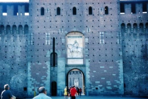 Castello Sforzesco entrance