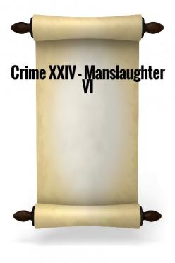 Crime XXIV - Manslaughter VI