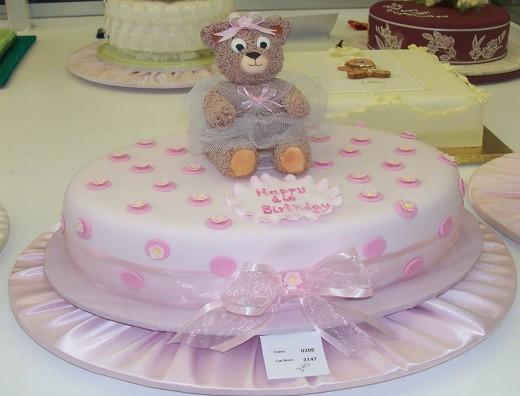 Pink Happy Birthday Cake