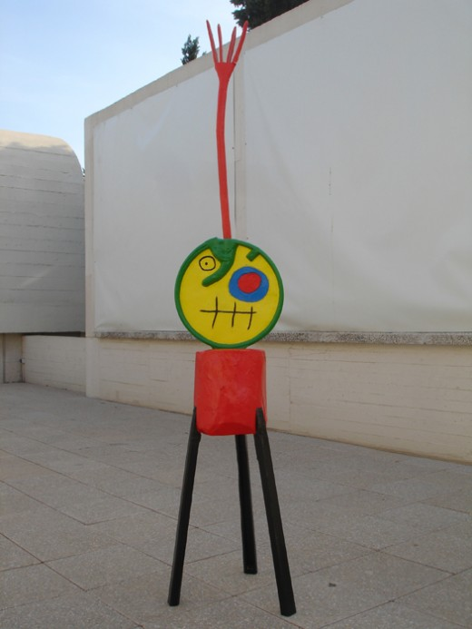 Miro sculpture at the Miro Foundation in Barcelona