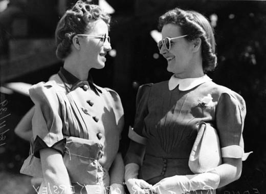 Edna Rice and Marjorie Kersley, 1939