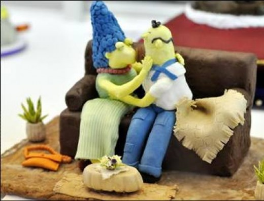 Marge and Homer Cake