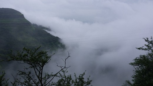 Fog clad hills of Matheran