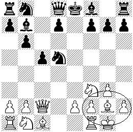The encircled position of pieces resembles a fianchetto.