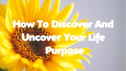 How To Discover & Uncover Your Life Purpose