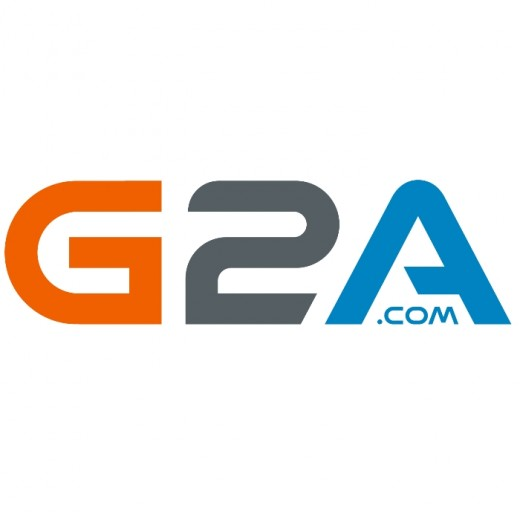 The logo of G2A, a virtual marketplace which sells second-hand keys for digital video games