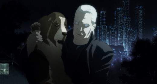 Section 9 member Batou and his dog.