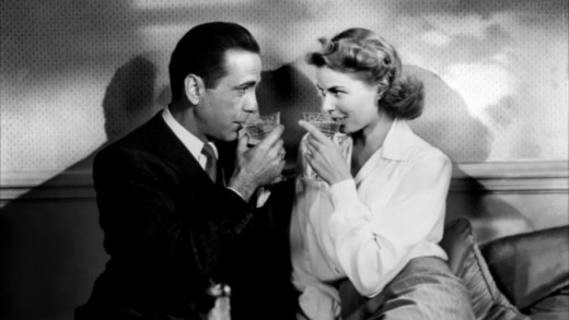 "They'll always have Paris... Humphrey Bogart & Ingrid Bergman in ""Casablanca"""