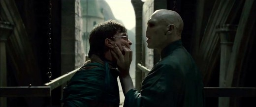 "Voldemort has a word with Harry in ""The Deathly Hallows: Part 2""."
