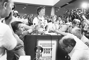Terry Fox at Press Conference