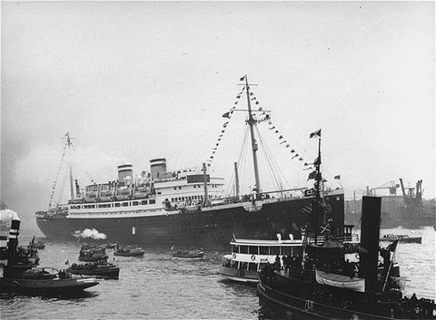 The German ocean liner St. Louis, which was not admitted into the United States when it was some 900 Jewish refugees from Germany.