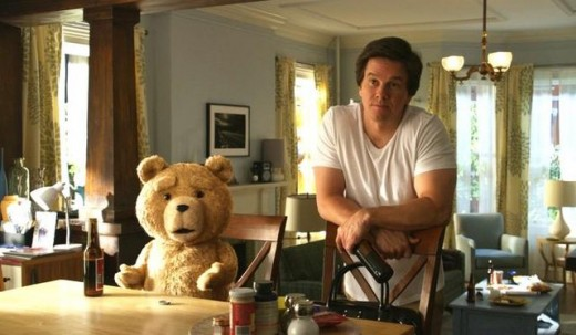 Wahlberg's interaction with the digital bear is seamless, helping reinforce him as an actual physical presence