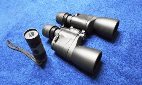 Monocular vs binocular size difference.