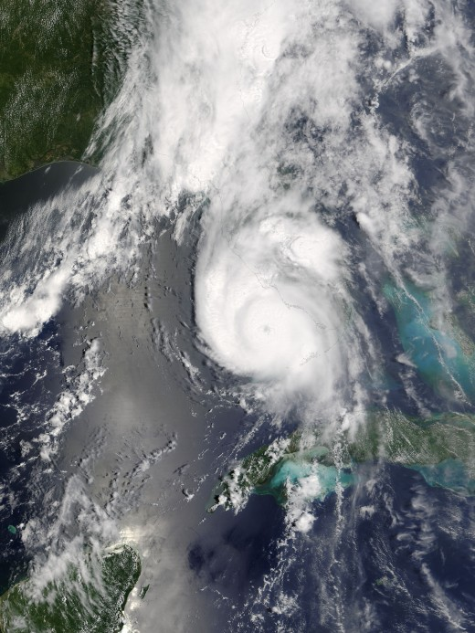 Hurricane Charley near peak intensity in 2004