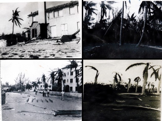 Damage in Delray Beach after the 1947 hurricane which struck Fort Lauderdale