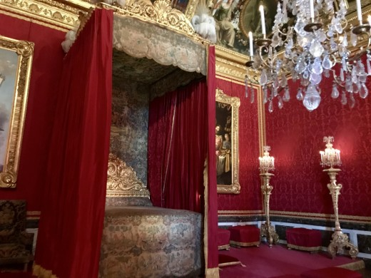 The bedroom of one of the powerful kings in ancient Europe.