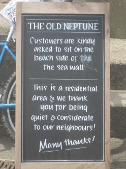 Whitstable Moan: The Sign Outside The Old Neptune Pub
