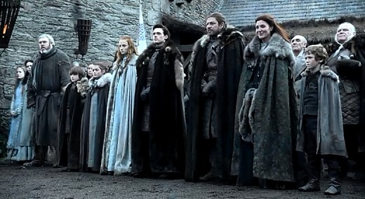 The Starks without Jon Snow.