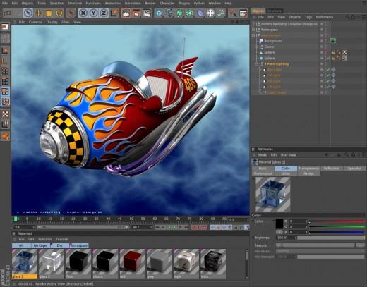 Maxon Cinema 4D User Interface