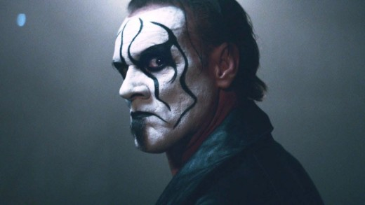 Sting in a vignette to promote the video game WWE 2K15.