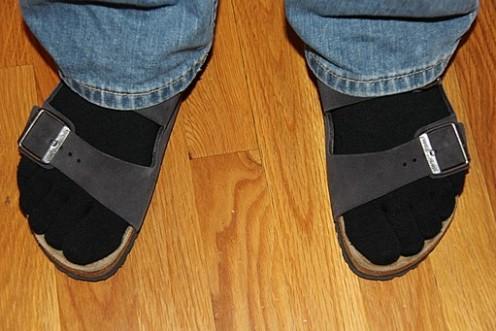 Socks always look good in black.