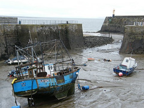 Fishing boat at Porthcawl Harbor in South Wales UK........All Photos courtesy Flickr